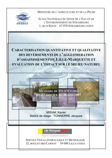 CARACTERISATION QUANTITATIVE ET QUALITATIVE ... - ENGEES