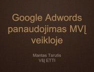 AdWords - EVITA