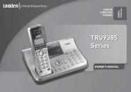 TRU9385 Series TRU9385 Series - at Uniden
