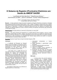 O Sistema de Registro (Prontuário) Eletrônico em Saúde da ... - SBIS