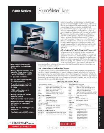 Keithley 2400 Datasheet - Testwall