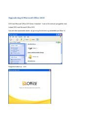 Opgradering til Microsoft Office 2010