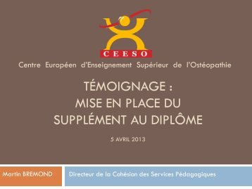 mise en place du Supplément au Diplôme - Agence Europe ...