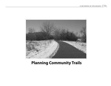 Planning Community Trails - Nebraska Game and Parks Commission