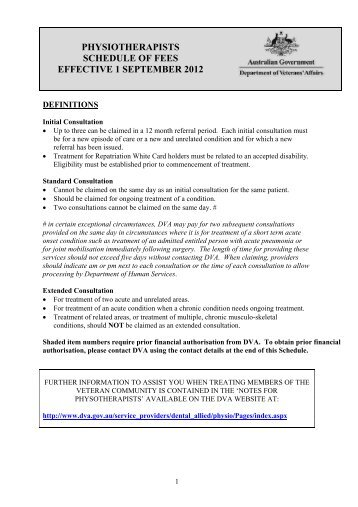 Physiotherapists - Department of Veterans' Affairs