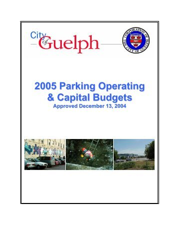 Capital Budget - City of Guelph