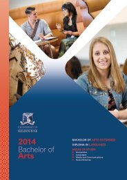 2014 Bachelor of Arts - Future Students - University of Melbourne