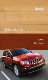 2012 Jeep Compass User's Guide