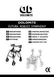 DOLOMITE FUTURA, ROBUST, SYMPHONY - Algol-Trehab Oy