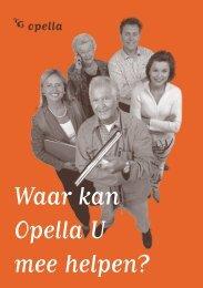 Inhoudsopgave Waar kan Opella u mee helpen? - Gemeenten
