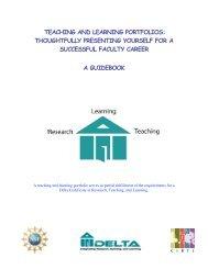 TEACHING AND LEARNING PORTFOLIOS ... - Delta Program