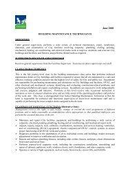 Building Maintenance Technician II - City of Tigard
