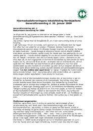 Hjerneskadeforeningens lokalafdeling Nordsjælland