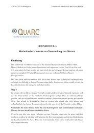Methodische Hinweise zur Verwendung von Memos - Qualitative ...