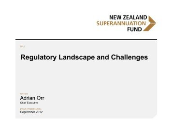 Regulatory Landscape and Challenges - International Forum of ...