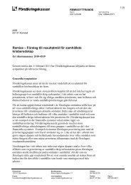 2011-03-14 Remissyttrande över Förslag till resultatmål för ...