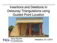 Insertions and Deletions in Delaunay Triangulations using ... - ACMAC
