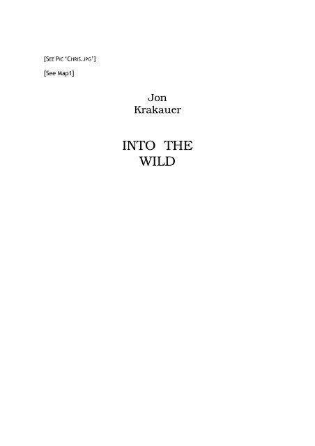 6ac72f00 Into the Wild - Jon Krakauer.pdf - Southwest High School