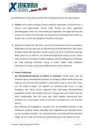 Detailiertes Wahlprogramm Kommunalwahl 2014 - Buergerforum ...