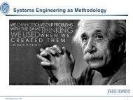 Systems Engineering as Methodology - National Interoperability ...