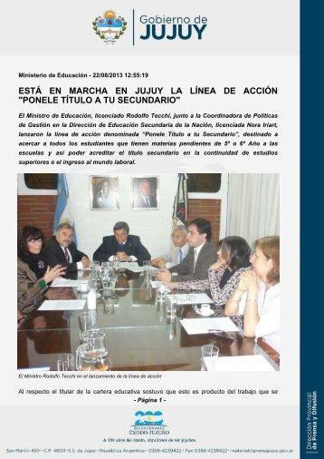 ponele título a tu secundario - Gobierno de la Provincia de Jujuy