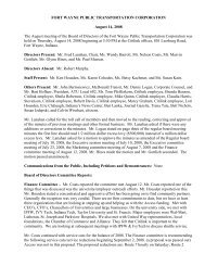 FORT WAYNE PUBLIC TRANSPORTATION ... - Citilink
