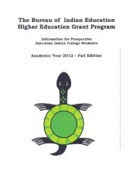 (BIE) Higher Education Grant Program - Bureau of Indian Education