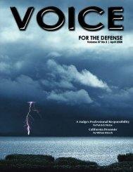 April - Voice For The Defense Online