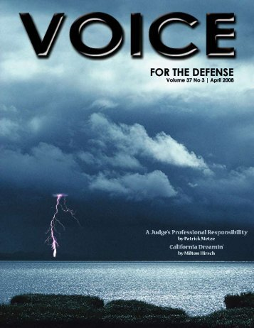 April - Voice For The Defense Online