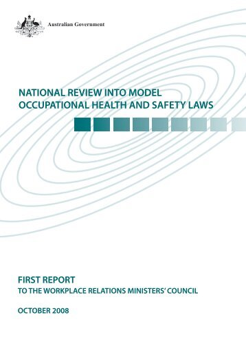 October 2008 First Report to the Workplace Relations ... - NT WorkSafe
