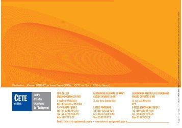Panorama de 15 ouvrages d'art - Le CETE de l'Est