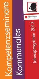 Kompetenzsemiare, Kommunales, Teilnahmebedingungen (pdf ...