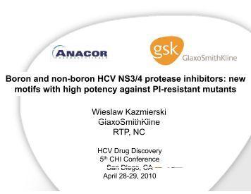 Boron and non-boron HCV NS3/4 protease inhibitors: new ... - Anacor
