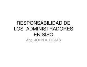 responsabilidad de los administradores en siso - Consejo ...