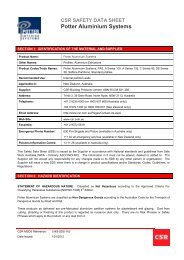 Potter Aluminium Systems - CSR