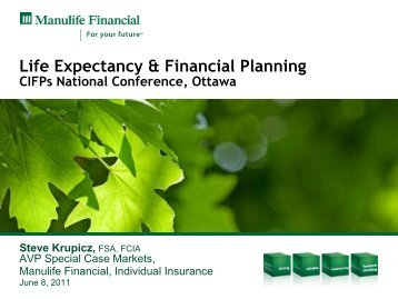Life Expectancy & Financial Planning - CIFPs