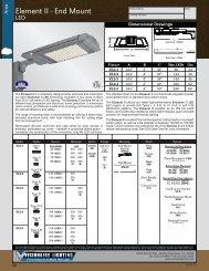 End Mount LED - Visionaire Lighting, LLC
