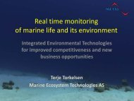 Real time monitoring of marine life and its environment - Ioconf.no