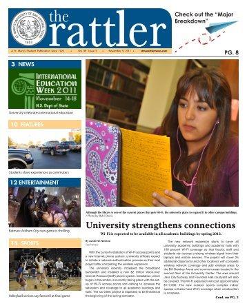 The Rattler November 9, 2011 v. 99 #5 - St. Mary's University