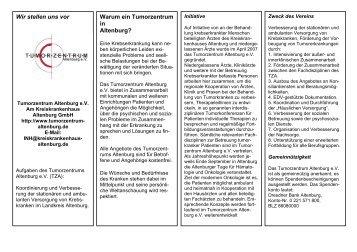 TZA-Informationsbroschüre (PDF 39 KByte) - Klinikum Altenburger ...