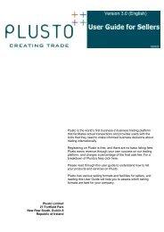 User Guide for Sellers - Plusto.com