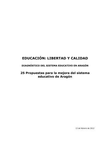 EDUCACIÓN: LIBERTAD Y CALIDAD - Cortes de Aragón