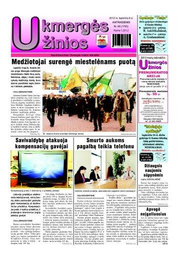 2012-11-06 - Ukmergės žinios