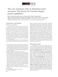 The care of patients with an abdominal aortic aneurysm - VascularWeb