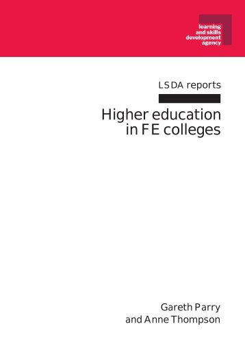 Higher education in FE colleges - Digital Education Resource ...