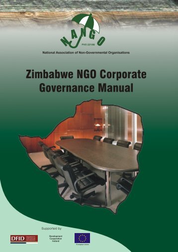 Zimbabwe NGO Corporate Governance Manual - One World Trust