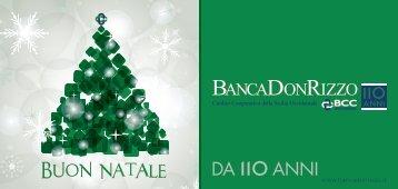 BUON NATAL DA no ANNI - Banca Don Rizzo