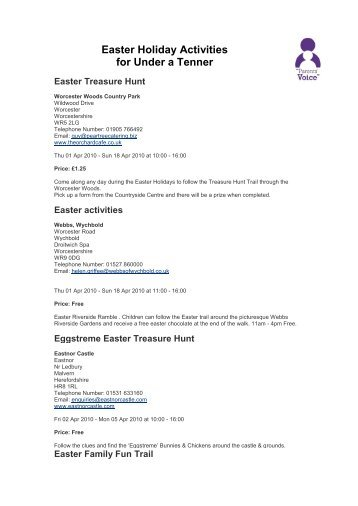Easter Holiday Activities for Under a Tenner