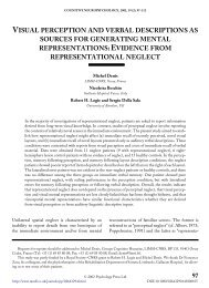 visual perception and verbal descriptions as sources for ... - Cisi