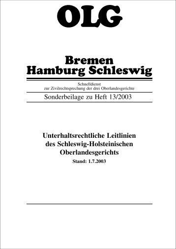 Bremen Hamburg Schleswig - FamRB